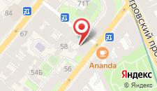 Отель Ариадна на карте