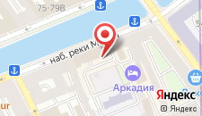 Отель Аркадия на карте