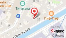 Гостиница Пио на канале Грибоедова на карте