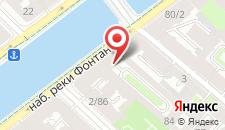 Гостиница Гости Любят на Фонтанке на карте