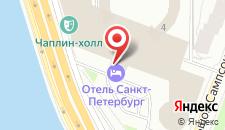 Отель Санкт-Петербург на карте