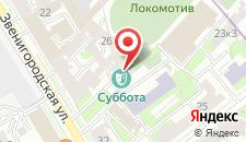 Гостиница Hotel GP на Звенигородской на карте
