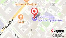 Гостиница государственного музея Эрмитаж на карте