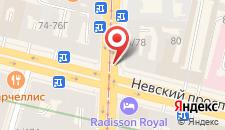 Хостел Simple Nevsky на карте