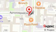Гостиница Комфитель Маяковский на карте