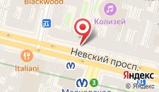 Отель Невский 98 на карте