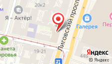 Отель Аллегро на Лиговском на карте