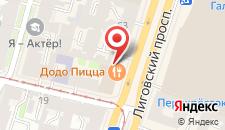 Гостиница Samsonov Hotel on Ligovsky 65 на карте