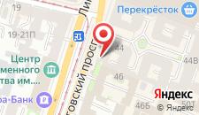 Отель Лиговский 44 на карте