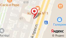 Гостиница Crowne Plaza St. Petersburg-Ligovsky на карте