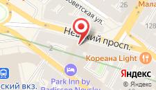 Гостиница Парк Инн От Рэдиссон Невский на карте