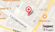 Мини-отель Old Flat на 1-ой Советской на карте