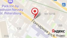Гостиница Samsonov Hotel on Goncharnaya на карте
