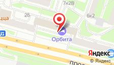 Гостиница Орбита на карте