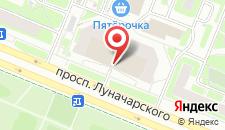 Апартаменты На Луначарского на карте