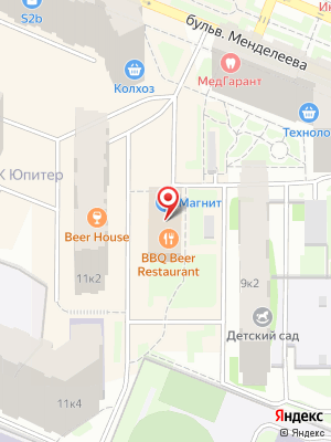 Bbq beer restaurant на карте