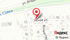 Отель Гусарский на карте