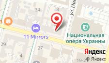 Апартаменты KievAccommodation Apartment on Bohdana Khmelnickog на карте