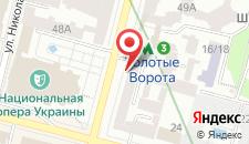 Апартаменты Home Hotel Apartments on Khreshchatyk Area на карте