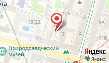 Хостел на Театральной на карте