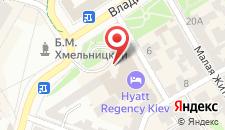 Отель Хаятт Ридженси на карте