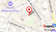 Апартаменты KievAccommodation Apartment on Mikhaylovskiy lane  на карте