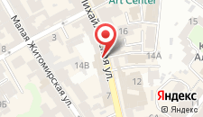 Апартаменты KievAccommodation на Михайловской на карте