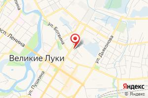 Адрес Газпром межрегионгаз Псков, Представительство в г. Великие Луки на карте