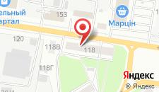 Апартаменты На Барыкина 118 на карте