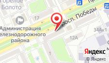 Апартаменты На Проспекте Победы 14 на карте