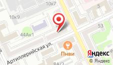Апартаменты Impreza на Кирова 44 на карте