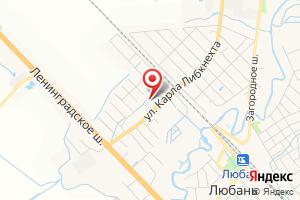 Адрес Газпром газораспределение Ленинградская область, филиал в г. Тосно, Любанский участок газоснабжения на карте