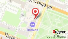Гостиница Акрон на карте