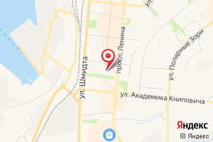 Адрес ГОУП Мурманскводоканал на карте