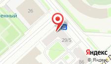 Мини-отель Ленинградская на карте