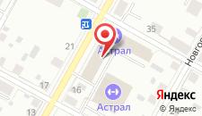 Мини-отель Астрал на карте
