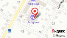 Отель Астрал на карте