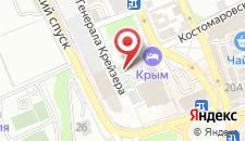 Туристско-оздоровительный комплекс Крым на карте