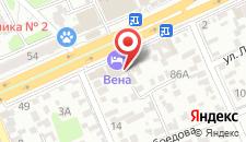 Гостиница Вена на карте