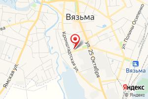 Адрес Газпром газораспределение Смоленск, филиал в г. Вязьме на карте