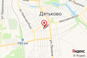 Адрес Газпром газораспределение Брянск, филиал в г. Дятьково на карте