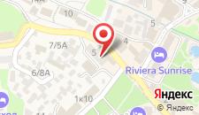 Пансионат Крымские зори на карте
