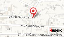 Гостиница Эйфория на карте