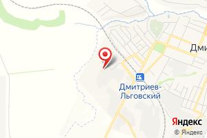 Адрес Газпром газораспределение Курск, филиал в г. Железногорске, Дмитриевская газовая служба на карте