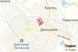 Адрес Газпром межрегионгаз, абонентская служба в г. Дмитриев на карте