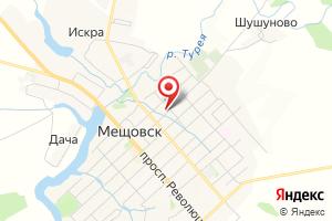 Адрес Газпром межрегионгаз, Территориальный участок г. Козельск, пункт учета Мещовск на карте
