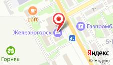 Отель Железногорск на карте