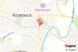 Адрес Газпром газораспределение Калуга, филиал в г. Козельске на карте