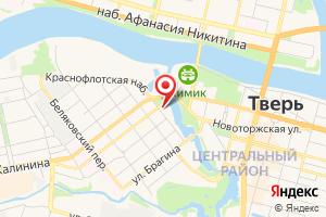 Адрес Филиал ПАО МРСК Центра - Тверьэнерго на карте