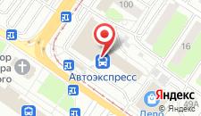 Гостиница Турист на карте